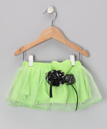 Lime Neon Hearts Tutu Skirt - Toddler & Girls