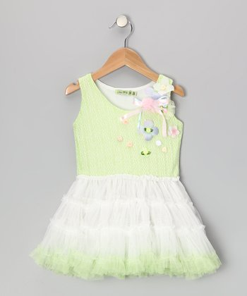 Lime Lemonade Flower Tutu Dress - Girls