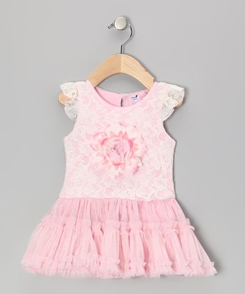 Baby Pink Bella Lace Tutu Bodysuit - Infant & Toddler