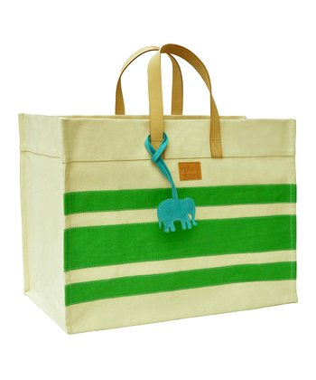 Green Stripe Super Tote