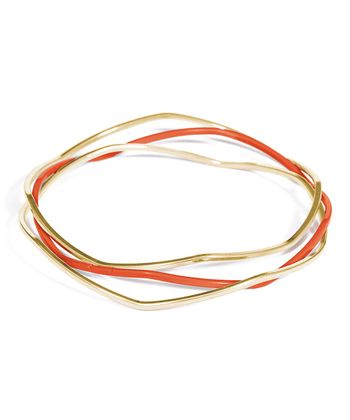 Gold & Coral Wesley Bangle Set