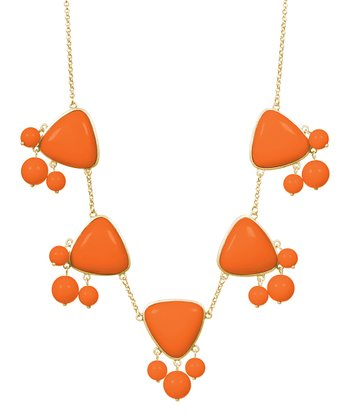 Gold & Orange Emma Necklace