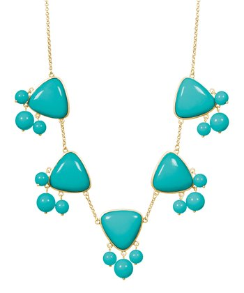 Gold & Turquoise Emma Necklace
