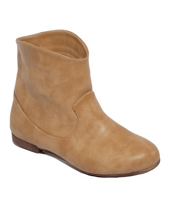Tan Western Gessica Ankle Boot