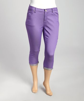 Purple Capri Pants - Plus
