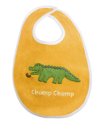 Yellow 'Chomp Chomp' alligator Bib