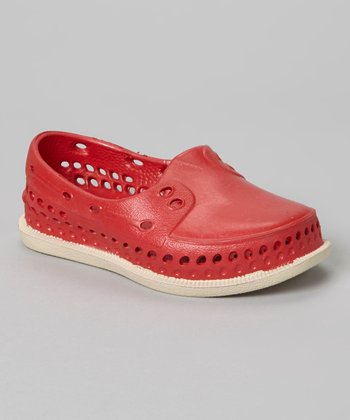 Red Rubber Slip-On Shoe
