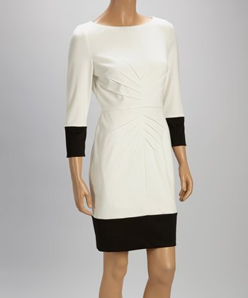 White & Black Sheath Dress