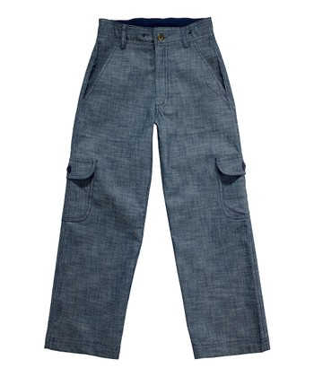 Navy Chambray Dandy Pants - Toddler & Boys