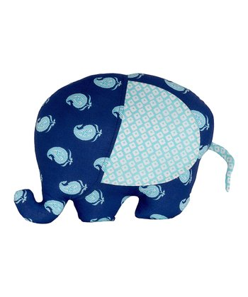 Masala Baby Navy Blue Paisley Elephant Plush Toy