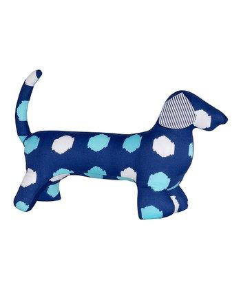 Masala Baby Navy Blue Polka Dot Dog Plush Toy