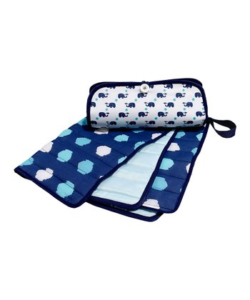 Masala Baby Navy Blue Elephant Diaper Clutch & Changing Pad