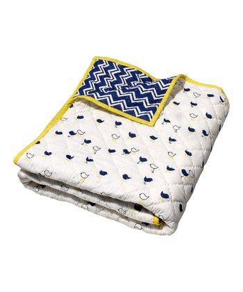 Masala Baby Navy Blue Chick Moksha Reversible Quilt