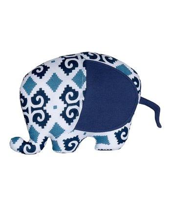 Masala Baby Navy Blue Ikat Elephant Plush Toy