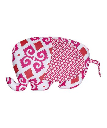Masala Baby Pink Ikat Elephant Plush Toy