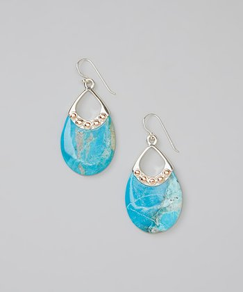 Turquoise & Sterling Silver Teardrop Earrings