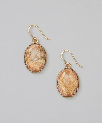 Bronze Picture Jasper Drop Earrings