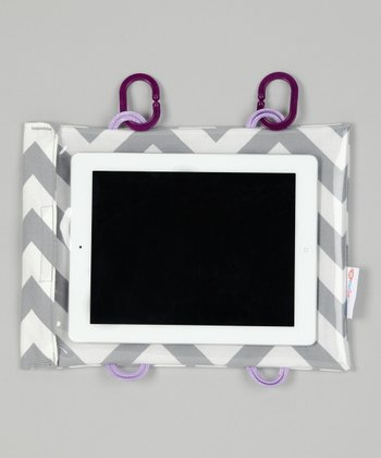 Silver Chevron Tablet Case