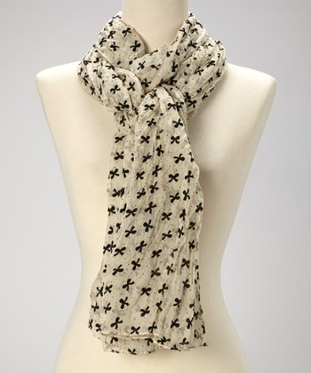 Ivory Bow Scarf