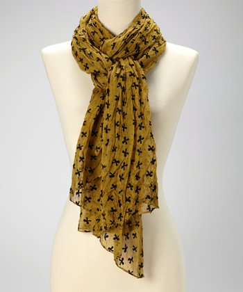 Mustard Bow Scarf