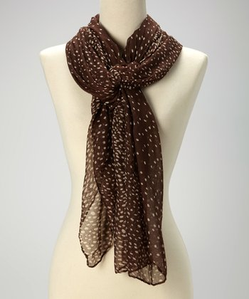 Brown Speckle Scarf