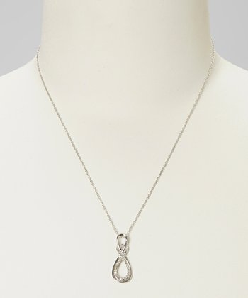 Diamond & Sterling Silver Infinity Swirl Pendant Necklace
