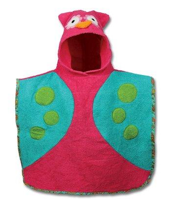 Owl Hooded Bath Poncho