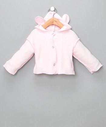 Baby Pink Softie Hooded Bear Jacket - Infant