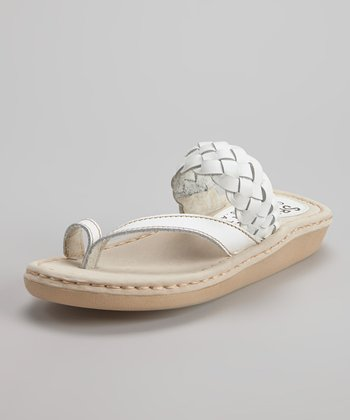 White Naples Sandal