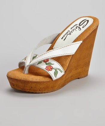 White Woods Wedge Sandal