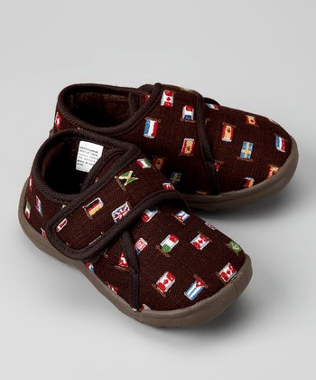 Brown Patriot Slipper