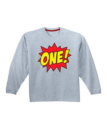 Athletic Heather 'One!' Comic Tee - Infant