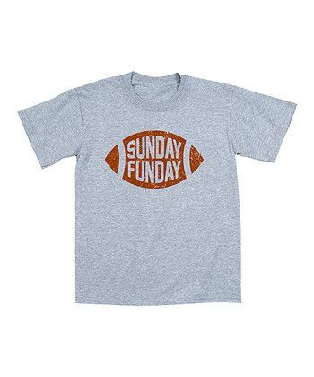 Athletic Heather 'Sunday Funday' Football Tee - Toddler & Boys