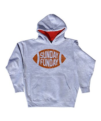 Athletic Heather 'Sunday Funday' Hoodie - Toddler & Kids