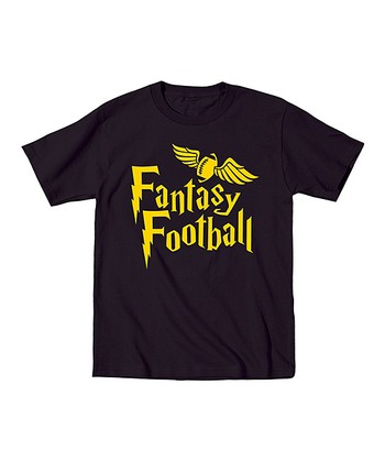 Black 'Fantasy Football' Wings Tee - Toddler & Boys