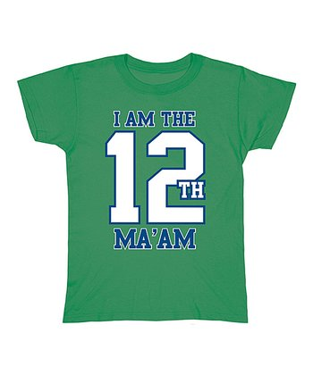Green 'I Am the 12th Ma'am' Tee - Women
