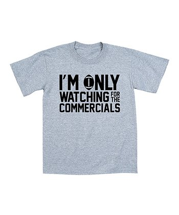 Athletic Heather 'For the Commercials' Tee - Toddler & Boys