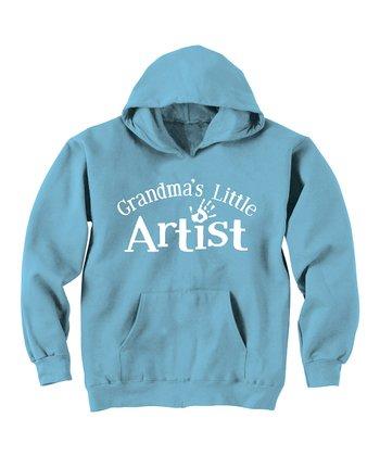 Zip-Tees Aqua 'Grandma's Little Artist' Hoodie - Toddler & Kids