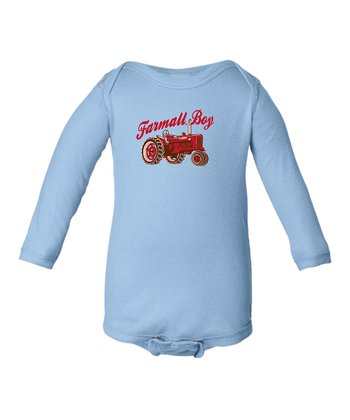 Light Blue Tractor 'Farmall Boy' Bodysuit - Infant