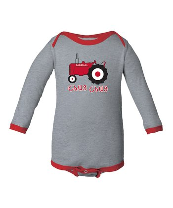 Athletic Red 'Chug Chug' Bodysuit - Infant