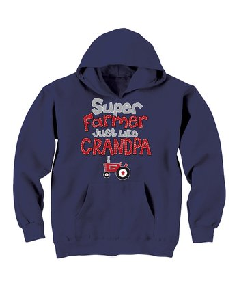 Navy 'Super Farmer' Hoodie  - Toddler & Kids