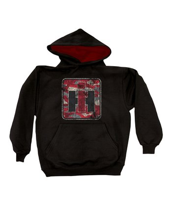 Black Camo Logo Lined Hoodie - Toddler & Kids