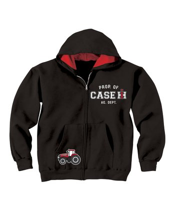 Black 'Prop. Of Case IH' Lined Hoodie - Infant