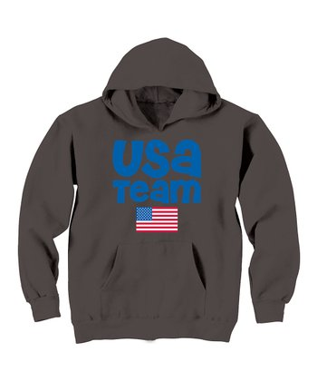 Charcoal USA Team Flag Hoodie - Toddler & Kids