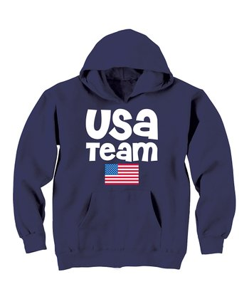 Navy USA Team Flag Hoodie - Toddler & Kids