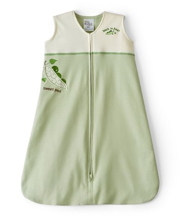 Green Peapod Color Block SleepSack