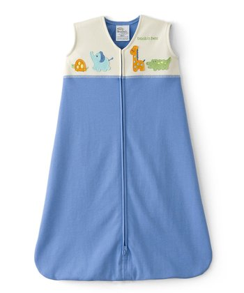 Blue & White Animal Friends HALO SleepSack