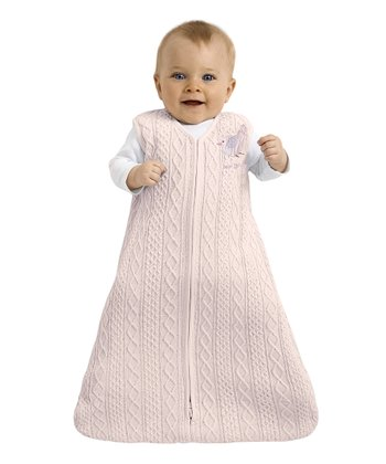Pink Bird Cable-Knit SleepSack