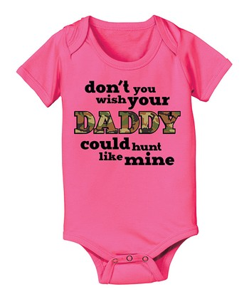 Raspberry 'Don't You Wish Your Daddy' Bodysuit - Infant