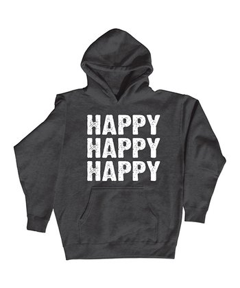 Heather Charcoal 'Happy Happy Happy' Hoodie - Men